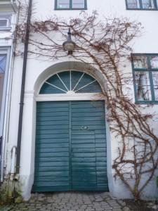 Typischer Hauseingang, Frederikstad Gamlebyen, Norwegen