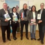 vlnr: Produktleiter W. Reindl, A. Kusturin (TVB Kvarner), R. Vlatkovic (Kroatische Zentrale für Tourismus), A. Kujundžić (TVB Istrien), Marketingleiter C. Raml