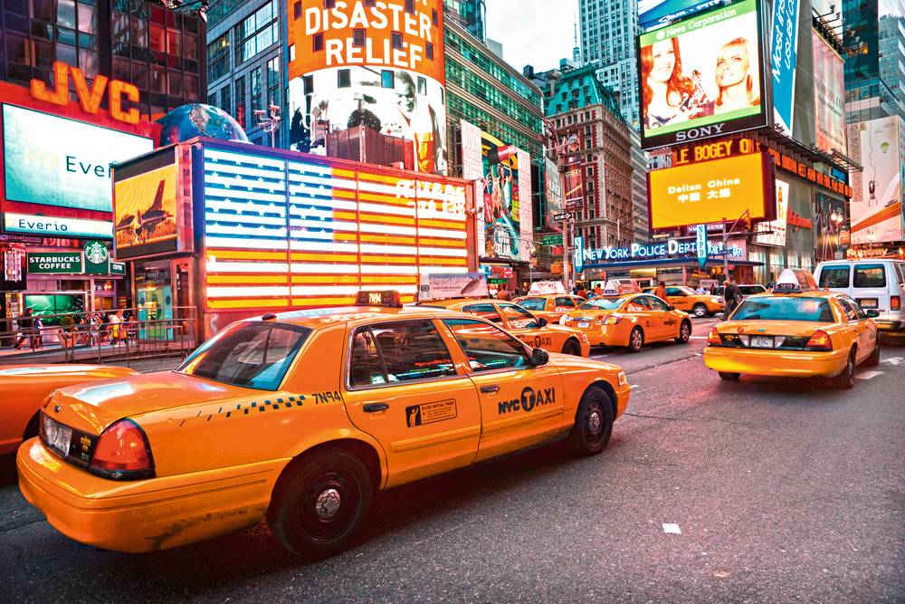 New York Times Square Taxis