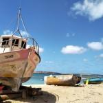 Kapverden altes Boot