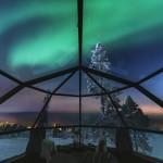 Glasiglu Nordlichter Finnland