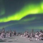 Nordlichter Finnland Winter