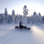 Finnland Motorschlittenfahrt